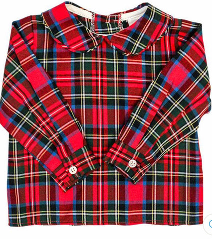 Wales Plaid Piped Peter Pan Shirt The Bailey Boys