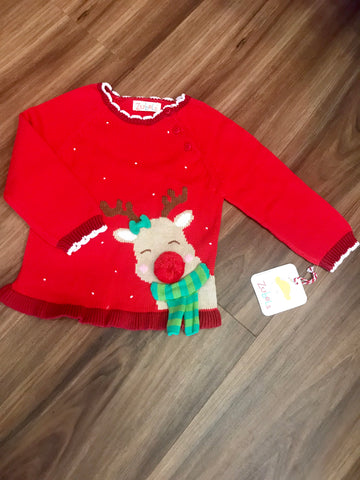 Reindeer Girl Sweater Zubels