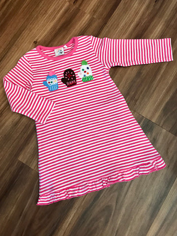 Mittens L/S Aline Dress w/Ruffle Luigi Kids