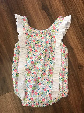 Ditsy Floral Ruffle Swimsuit Little English