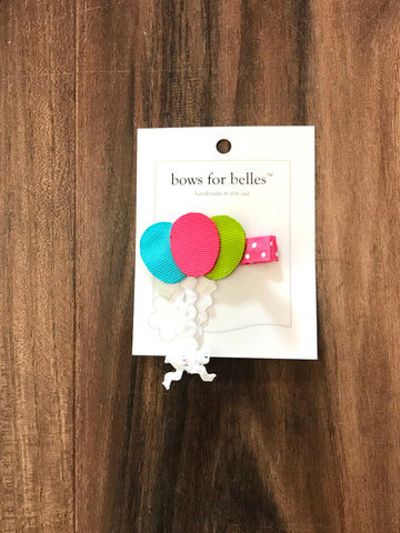 Balloons Hair Bow Bows For Belles