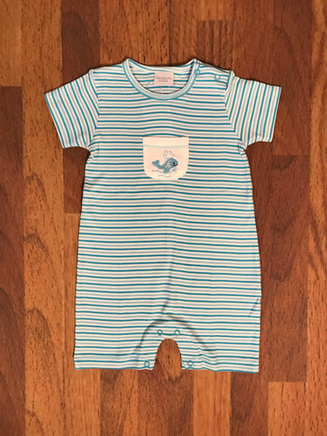 Whale Romper w/Pocket Squiggles
