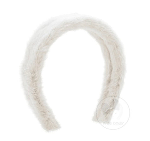 Solid Faux Fur Headband by Wee Ones