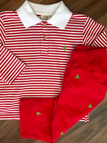 Christmas Tree Emb Child Polo Luigi Kids