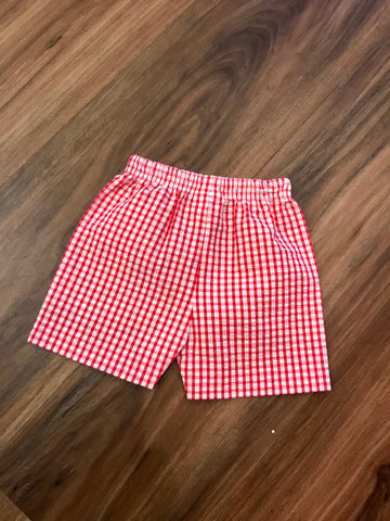 Large Check Seersucker Shorts Zuccini