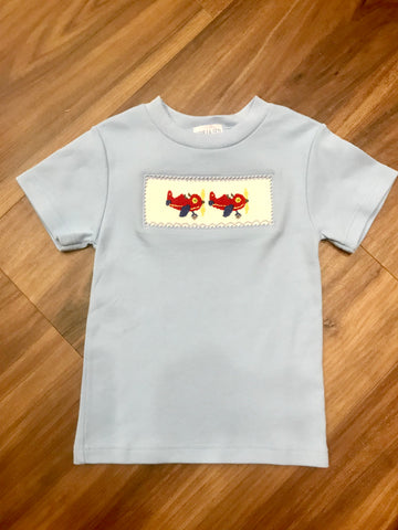 Airplane Smocked SS Tee Vive La Fete