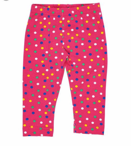 Scattered Dot Print Leggings Florence Eiseman Knits