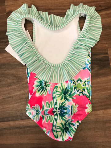 Garden Print Ruffle Swimsuit The Bailey Boys