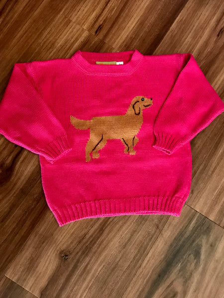 Golden Retriever Girl Sweater Claver Sweaters