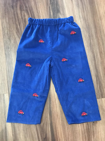 Cars Embroidered Cord Pants Zuccini