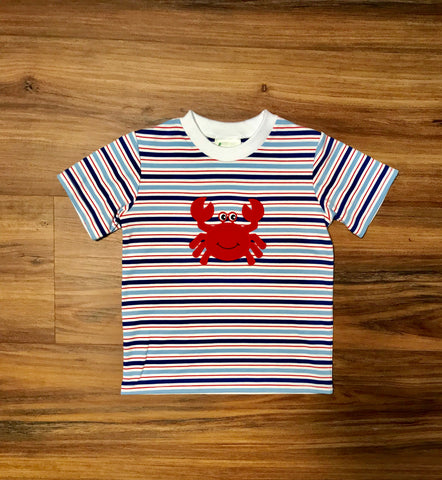 Crab Multi Stripe Tee Zuccini