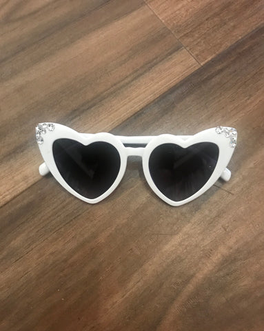 Heart Crystal Sunglasses Bari Lynn