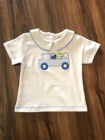 Easter Truck Peter Pan Collar Shirt Luigi Kids
