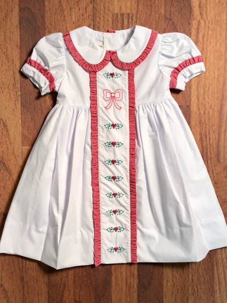 Bows & Hollies Dress Little Threads