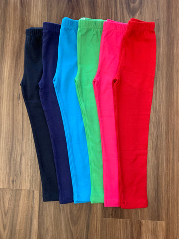 Straight Solid Bright Leggings by Luigi Kids