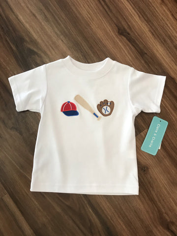 Baseball Applique Tee Claire & Charlie