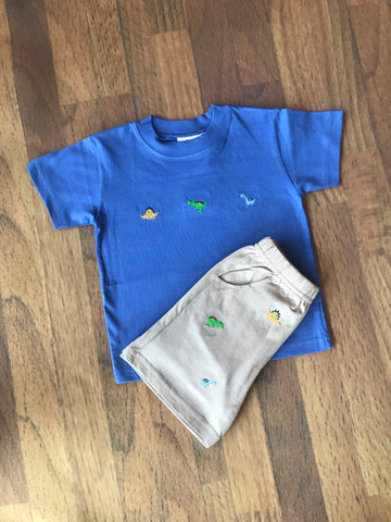 Three Dinos Emb. S/S Tee Luigi Kids