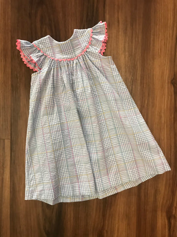 Blue Plaid Bishop Yoke Dress Funtasia Too