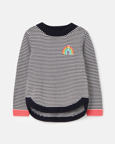 Isabella Stripe Rainbow Sweater by Joules