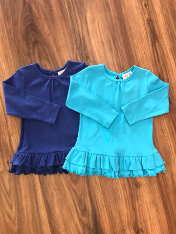 L/S Solid Bright Swing Top w/Dbl Ruffle Luigi Kids