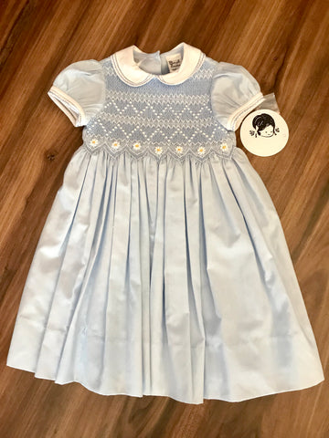 Smocked Dress w/Daisies Sarah Louise