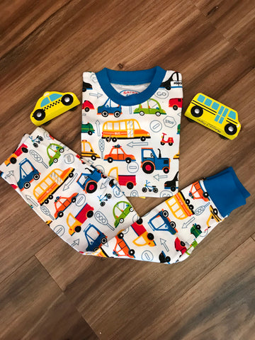 Cartoon Cars Pj Pants Set Sara's Prints