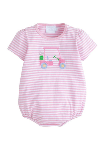 Golf Cart Applique Girl Bubble Little English