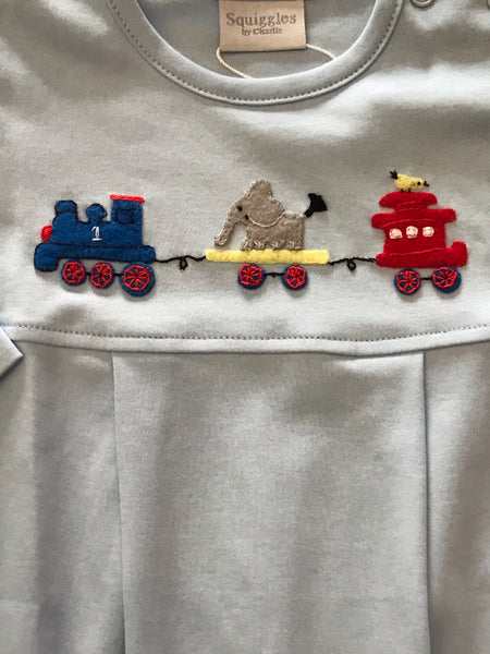 Animal Train Long Romper Squiggles