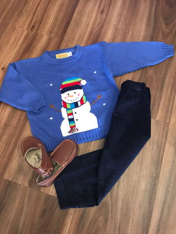 Snowman Boy Sweater Claver Sweaters