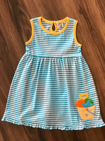 Beach Pail Applique Sleeveless Dress Luigi Kids
