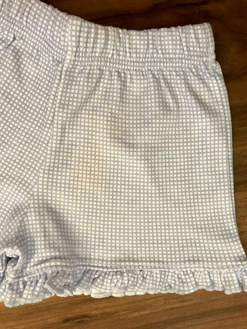 Gingham Print Knit Ruffle Shorts Luigi Kids