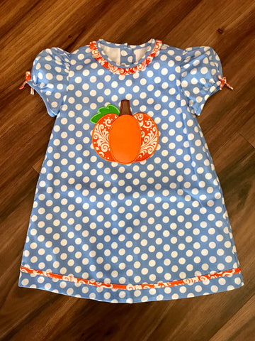 Pumpkin Applique Dress Child Claire & Charlie
