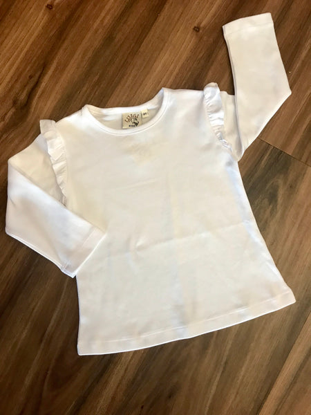Ruffle Shoulder L/S Tee Luigi Kids