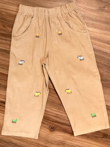 Construction Emb Toddler Pants Luigi Kids