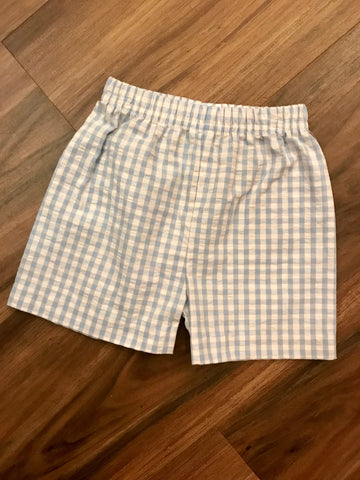 Blue Plaid Basic Boy Shorts Zuccini