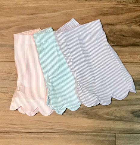 Scallop Hem Toddler Shorts Zuccini ON SALE!!! Use code 30off