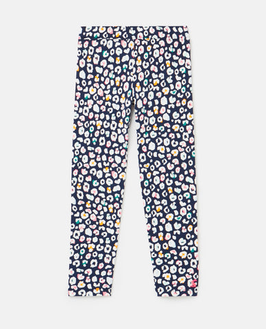 Emilia Navy Leopard Print Leggings by Joules
