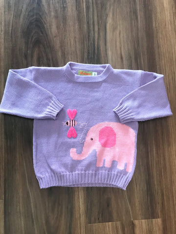 Elephant Intarsia Sweater Claver Sweaters