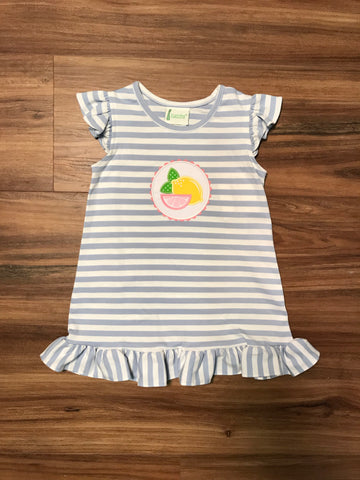 Lemon Knit Toddler Dress Zuccini