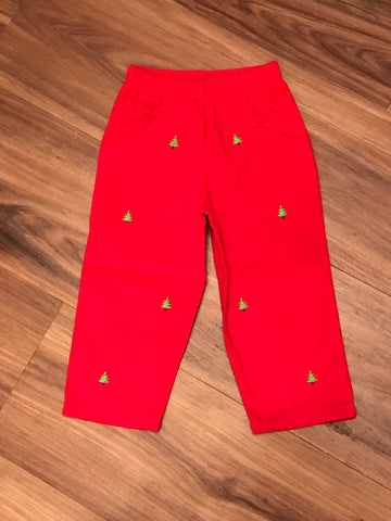 Christmas Tree Emb Child Pants