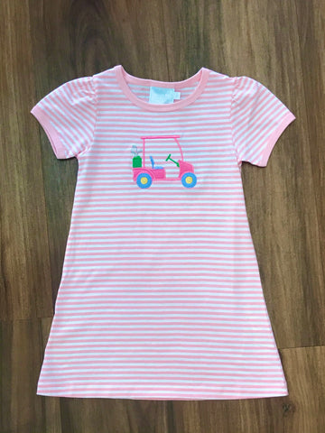 Golf Cart Applique Knit Dress Little English
