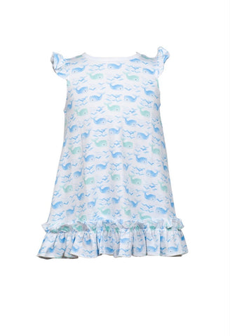 Wellington Whale Riley Ruffle Dress by The Proper Peony