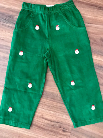 Santa Faces Emb Cord Pants Child Luigi Kids