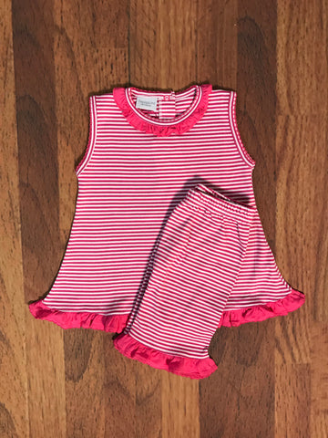 Ruffle Stripe Shorts Set Child Squiggles