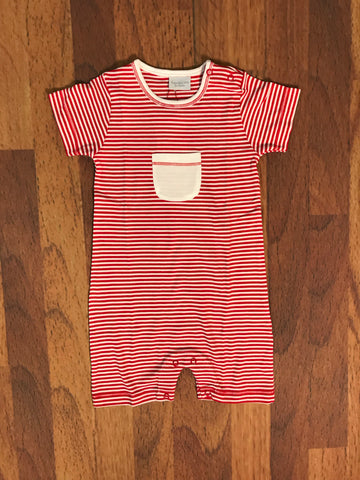 Stripe Romper w/Pocket Squiggles