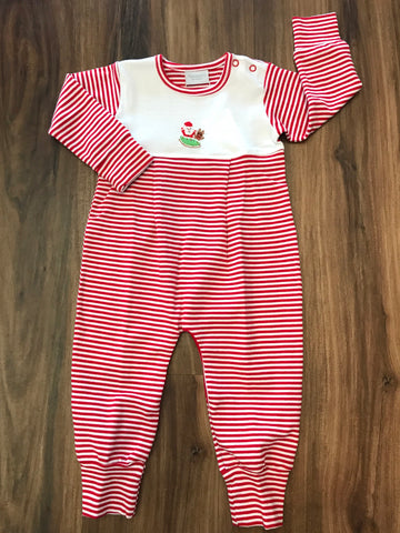 Mini Flying Santa Long Romper Squiggles