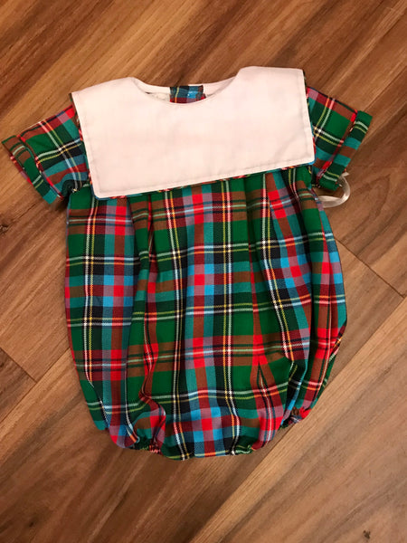 Plaid Boy Bubble Carriage Boutiques