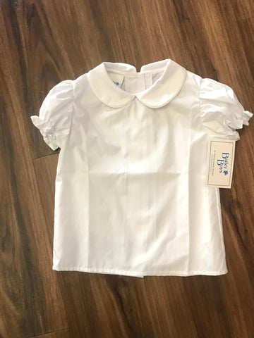 Girls Peter Pan Broadcloth S/S Blouse The Bailey Boys