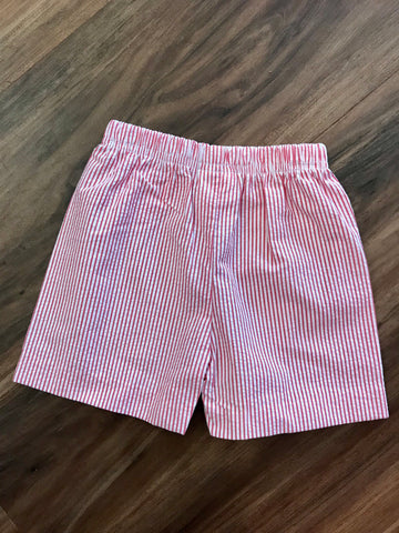 Basic Seersucker Stripe Shorts Zuccini