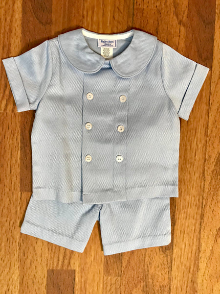 Blue Pique Dressy Short Set The Bailey Boys